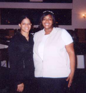Ruth Williams and Erica Campbell