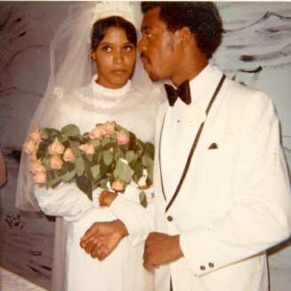 Thelma and Richard Campbell Wedding picture